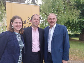 Andrew with Ed Davey and Jo Swinson