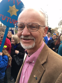 Councillor Stan Pajak at the People's Vote March
