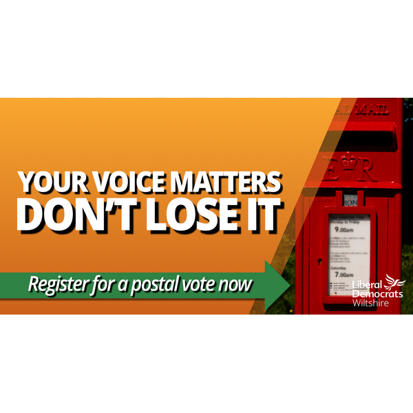 Register for a Postal Vote (Wiltshire Liberal Democrats)